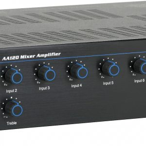 ATLAS SOUND AA120 120 WATT 6 CHANNEL MIXER AMP
