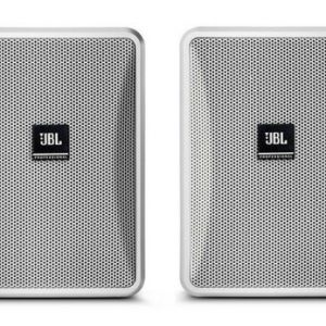 JBL Control 23-1L-WH PAIR High-Output Indoor/Outdoor Background/Foreground Speaker (Pair, White)