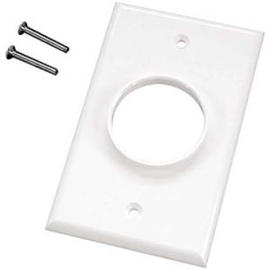 MidLite 1GWH One Port White Wall Plate