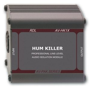 "AV-HK1X  RDL ""HUM KILLER"" AUDIO ISOLATION TRANSFORMER – XLR INPUT AND OUTPUT"