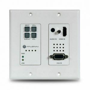 ATLONA AT-HDVS-200-TX-WP TWO-INPUT WALL PLATE SWITCHER FOR HDMI AND VGA SOURCES